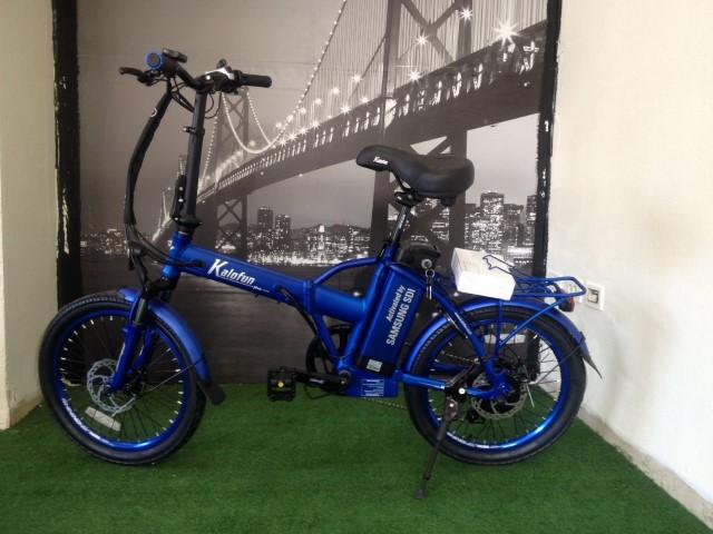 אופניים כחולות קל אופן